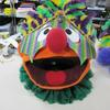 Mardi Gras mask and ruffled collar for Ernie.